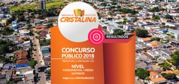 Retificação o Resultado Final do Concurso – Edital 001/2018, Prefeitura Municipal de Cristalina.