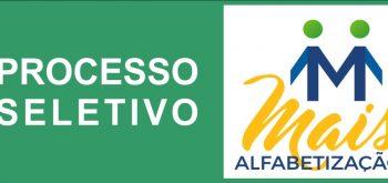 EDITAL N° 003/2019 PROCESSO SELETIVO SIMPLIFICADO ASSISTENTE DE ALFABETIZAÇÃO PARA ATUAREM NO PROGRAMA MAIS ALFABETIZAÇÃO