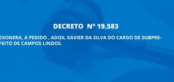 DECRETO  N° 19.583